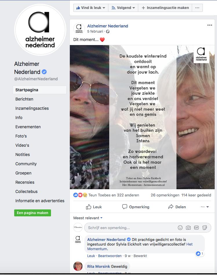 Post op FB Alzheimer Nederland februari 2019