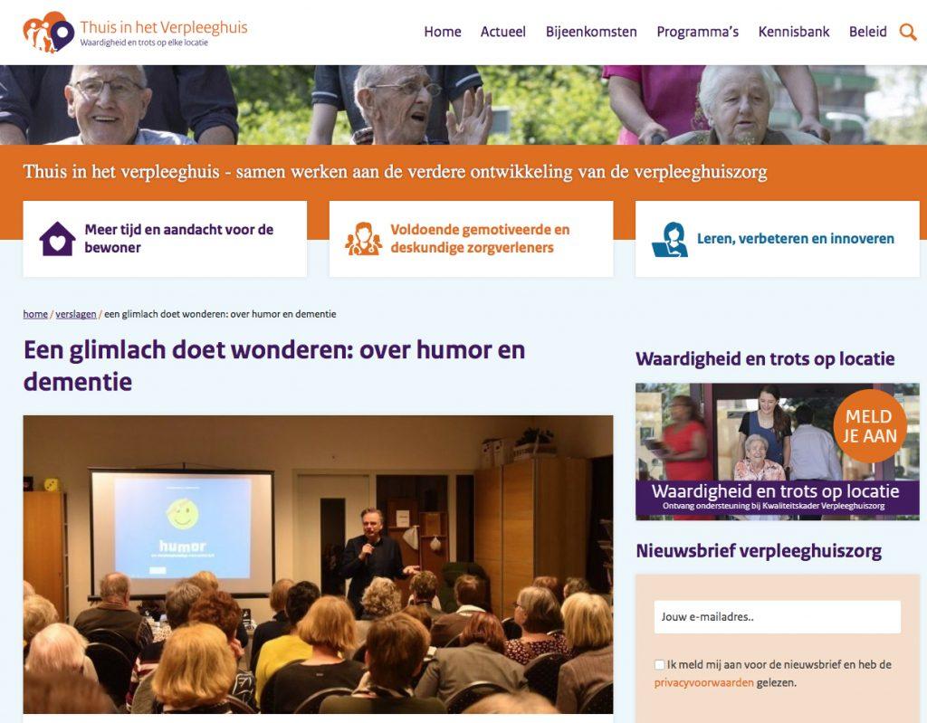 20200207: Lees meer op https://www.waardigheidentrots.nl/verslagen/glimlach-doet-wonderen-bij-dementie/